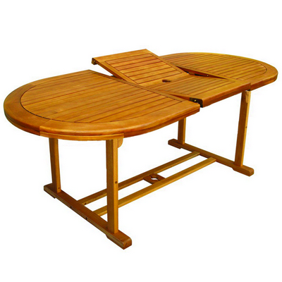 EUCALYPTUS FSC OVAL EXTENDIBLE TABLE