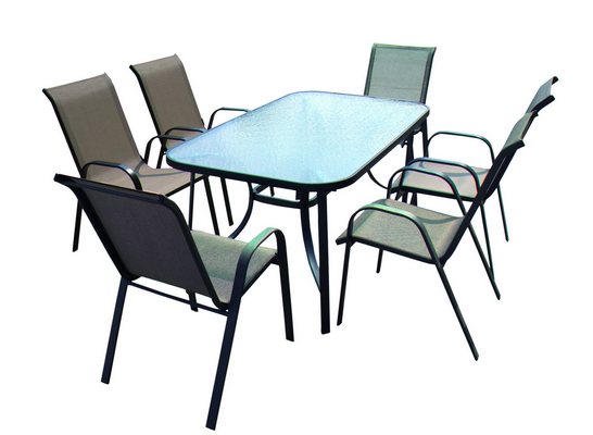 STEEL TABLE CM. 150X90X72H WITH FRAME MM. 15X35 AND LEGS MM. 15X35 WITH TEMPERED WATER WEAVING GLASS�