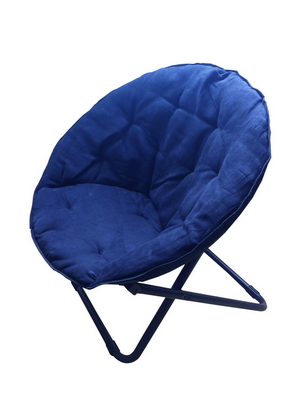 FOLDING MOON CHAIR STEEL TUBE DIAM. 24 WITH POLYESTER FABRIC BLU�