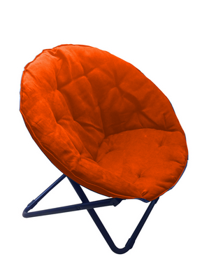 FOLDING MOON CHAIR STEEL TUBE DIAM. 24 WITH POLYESTER OXFORD ORANGE�