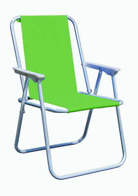 PIC-NIC CHAIR STEEL SILVER TUBE DIAM. 19 CM. 47X57X75H - WITH POLYESTER GREEN LIME �