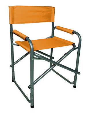 DIRECTOR CHAIR STEEL SILVER TUBE DIAM.25 CM. 46X56X80H - WITH POLYESTER ORANGE�