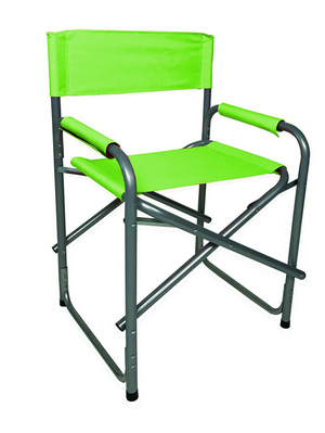DIRECTOR CHAIR STEEL SILVER TUBE DIAM.25 CM. 46X56X80H - WITH POLYESTER GREEN LIME �
