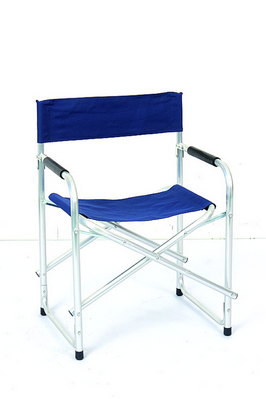 DIRECTOR CHAIR ALUMINUM TUBE DIAM. 25 CM. 47X55X78H - WITH POLYESTER BLUE �