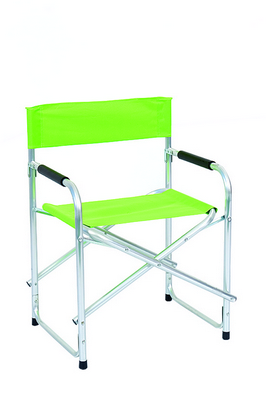 DIRECTOR CHAIR ALUMINUM TUBE DIAM. 25 CM. 47X55X78H - WITH POLYESTER GREEN LIME �