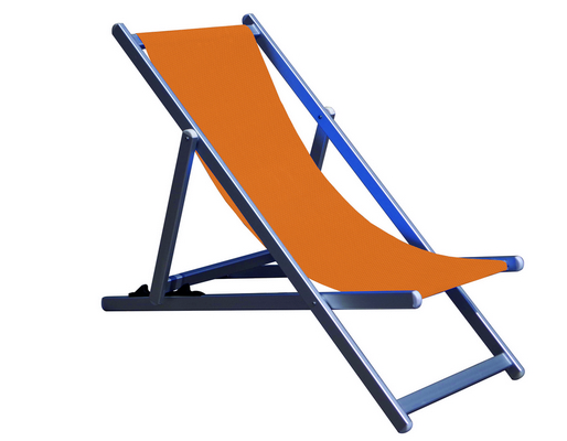 RECLINER 3 POSITION CHAIR ALUMINIUM TUBE MM. 40X20 CM. 98X68X106 - TEXTILENE COVER ORANGE MELANGE�