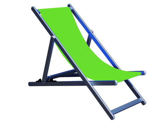 RECLINER 3 POSITION CHAIR ALUMINIUM TUBE MM. 40X20 CM. 98X68X106 - TEXTILENE COVER GREEN MELANGE�
