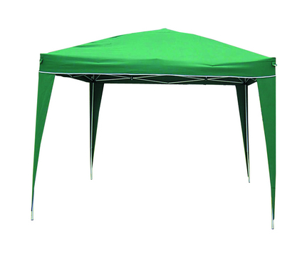 FOLDING GAZEBO MT. 3X3 HEIGHT MT. 2,6 WHITE STEEL TUBE MM. 25X25 - WITH CARRY BAG POLYESTER COVEr 14�