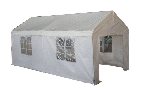 GAZEBO PARTY TENT MT. 3X6 STEEL TUBE DIAM. 38 COVER PE 160GR WITH SIDEWALL WITH WINDOWS�