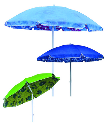 BEACH UMBRELLA DIAM. 200 ALUMINIUM POLE MM. 32 8 FIBERGLASS RIBS WITH PLASTIC TILT POLYESTER DUPLEX�