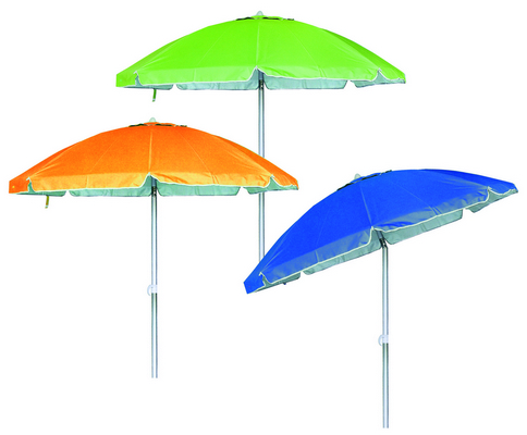BEACH UMBRELLA DIAM. 200 ALUMINIUM POLE MM. 32 8 FIBERGLASS RIBS - WITH PLASTIC TILT POLYESTER 120 �