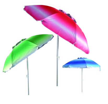 BEACH UMBRELLA CM. 200 - STEEL POLE 32 - 32 - 8 STEEL RIBS WITH PLASTIC TILT OXFORD COVER SFUME' - W�
