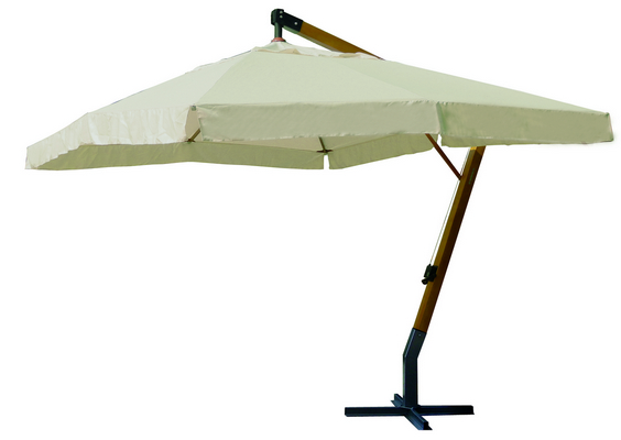 WOODEN HANGING UMBRELLA DIAM. MT. 3,5 CHINESE WOOD POLE MM. 60x60 - 8 RIBS MM. 17x22 INCLUDED CRANK �
