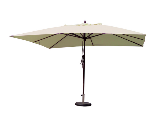 WOODEN UMBRELLA PULLY MT. 2X3 CHINESE WOOD POLE DIAM. MM. 38 - 6 RIBS MM. 14X24 POLYESTER COVER 180 �