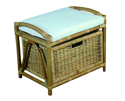 RATTAN BENCHTRUNK WITH 1 DRAWER CM. 50X35X41H�