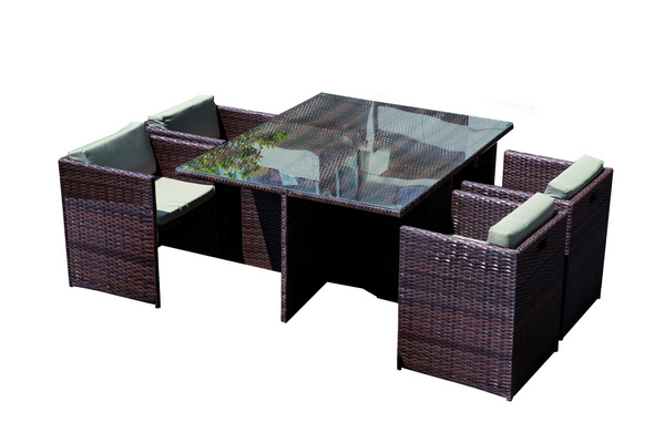 DINING SET IN ALLUMINIO