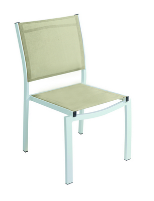 WHITE ALUMINIUM CHAIR WITH TEXTILENE CM. 46X56X85H�