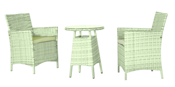 BALCONY SET STEEL - POLYRATTAN K.D.