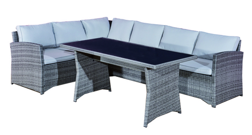 LUNCH SET STEEL POLYRATTAN